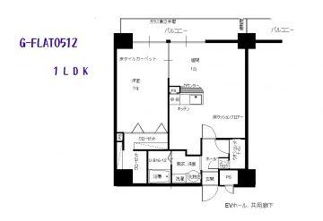 GFLAT512 間取図(間取)